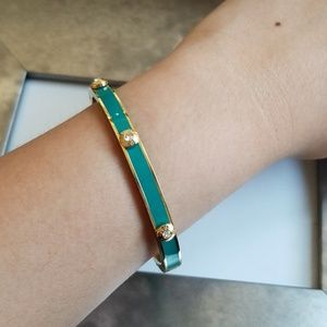 Henri Bendel Turquoise Miss Rivet Bangle / Rare